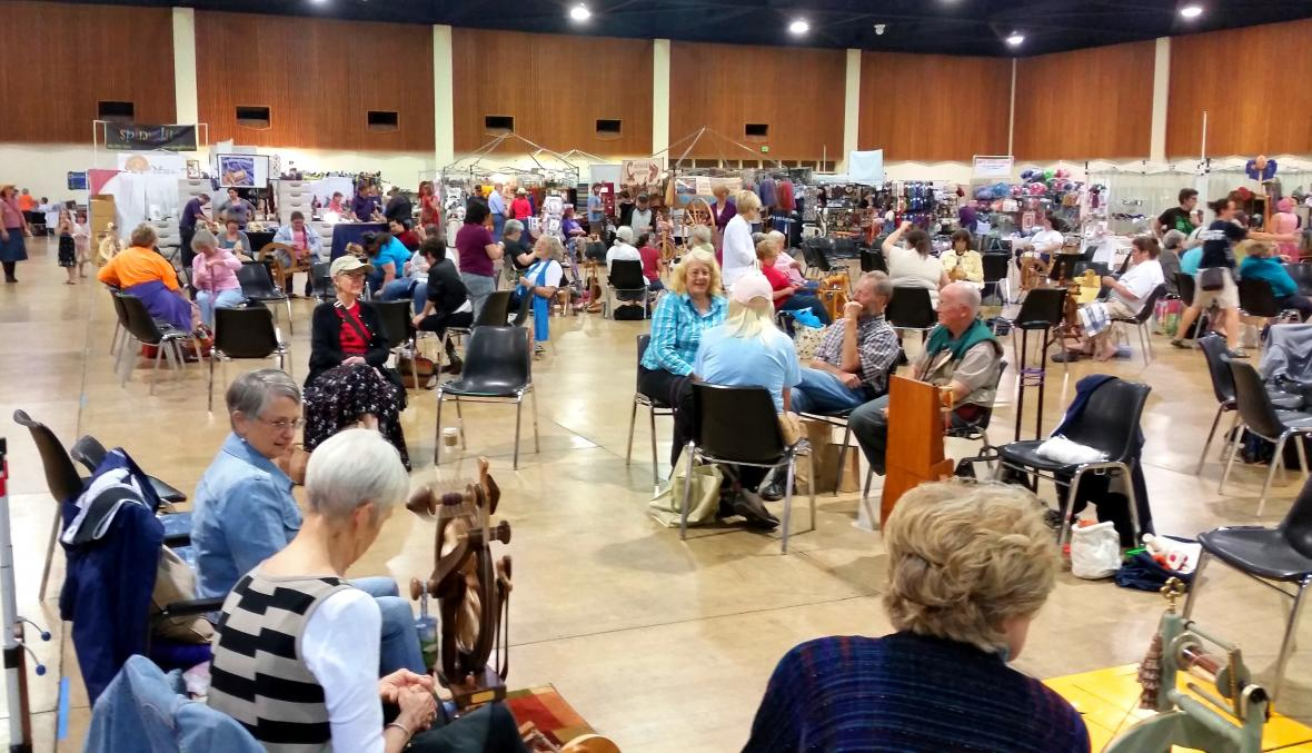 Vendor hall and spinning circle