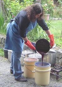 Linda Making Dyes