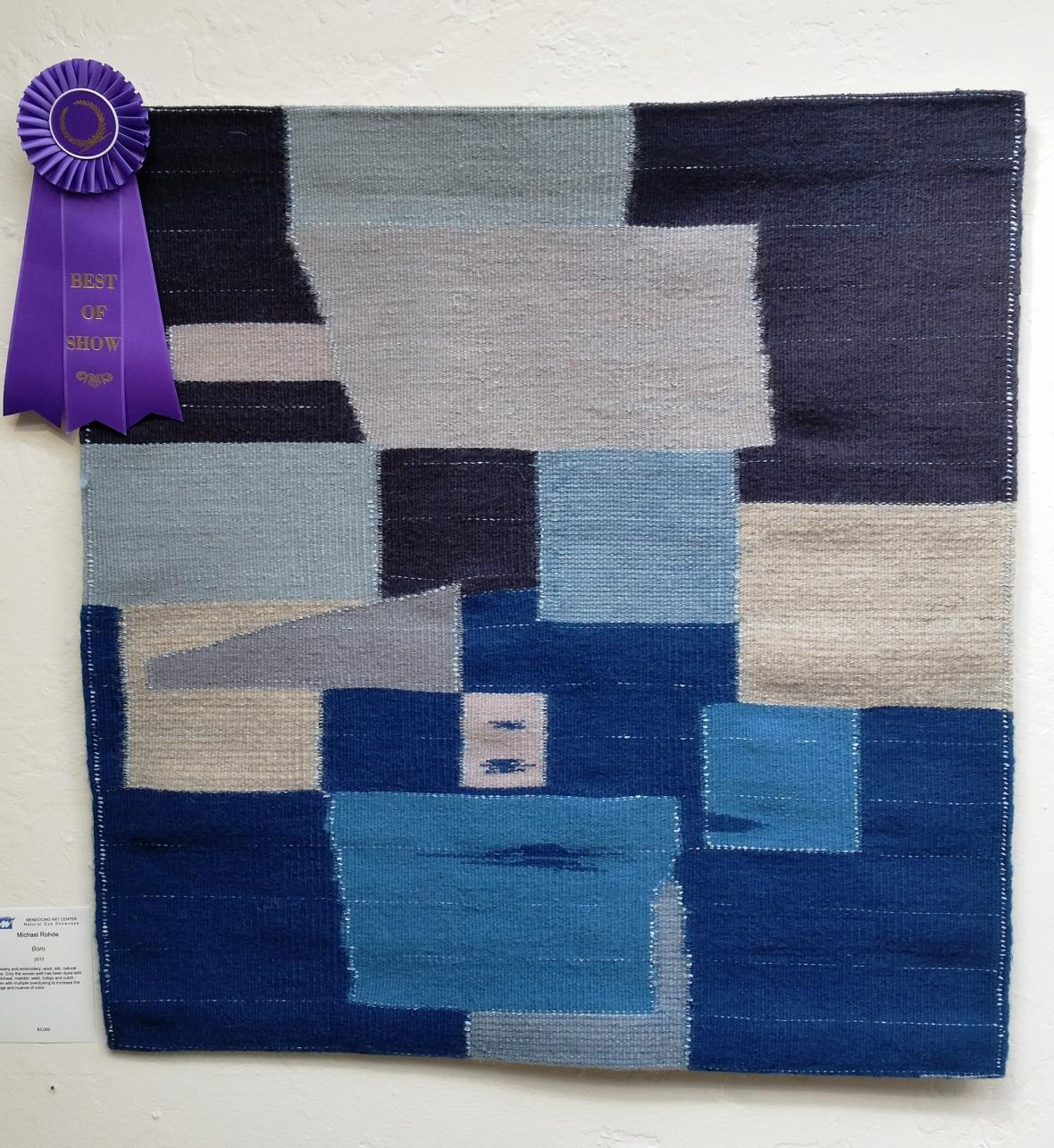 Best of show went to Michael Rohde for this tapestry.