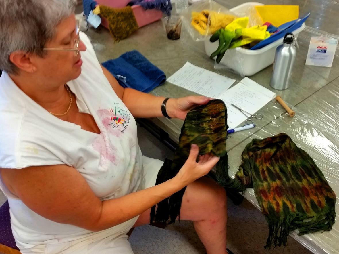 Betsy's woven shibori