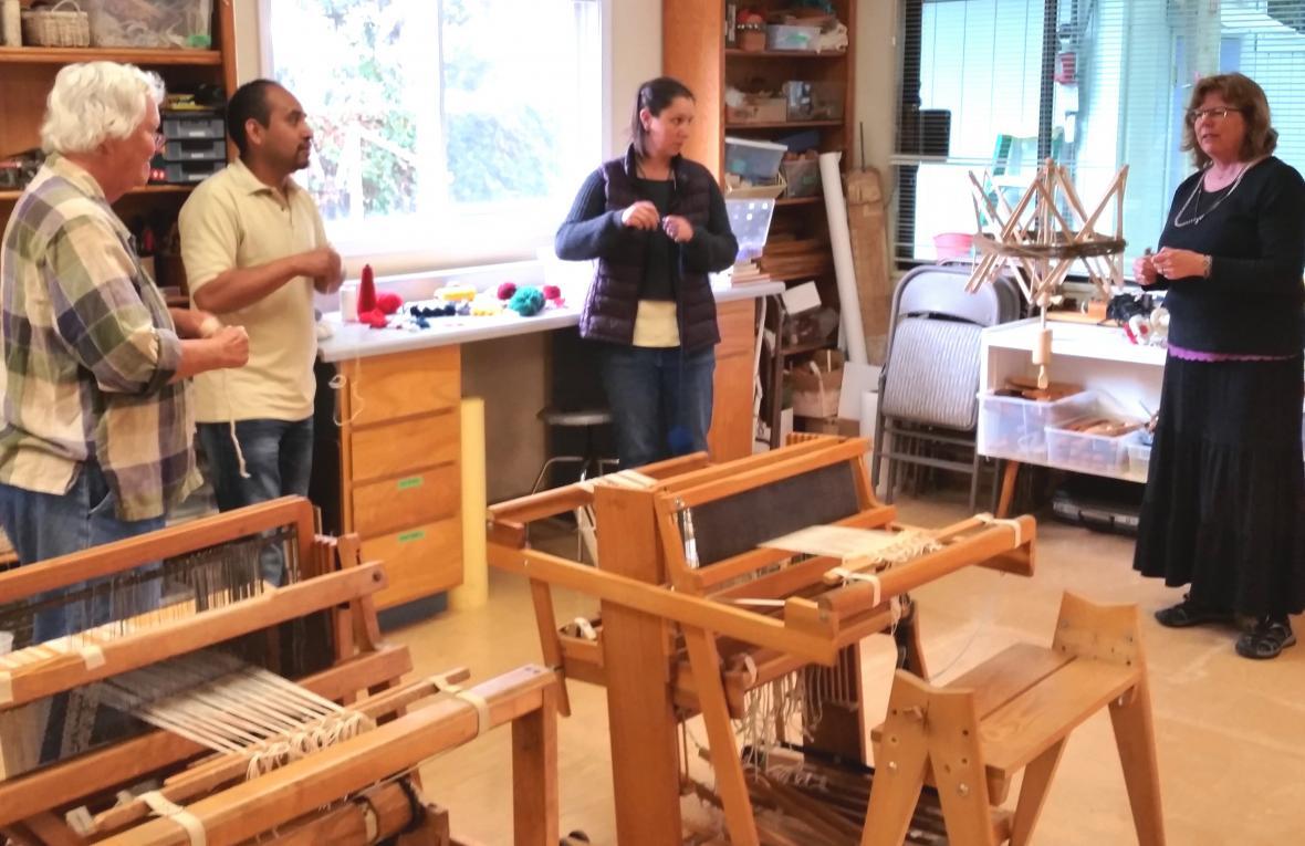 Zapotec weaving class at Pacific Textile Arts with Rodrigo Sosa Bautista.